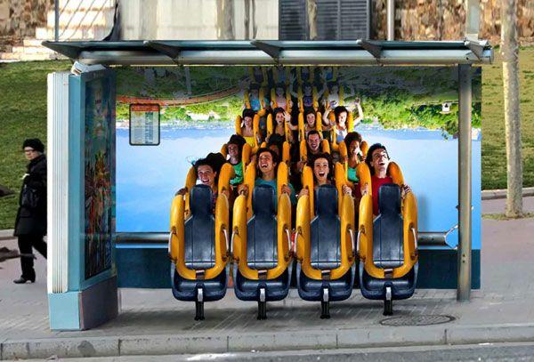 Port-Aventura-Park-Bus-stop-roller-coaster