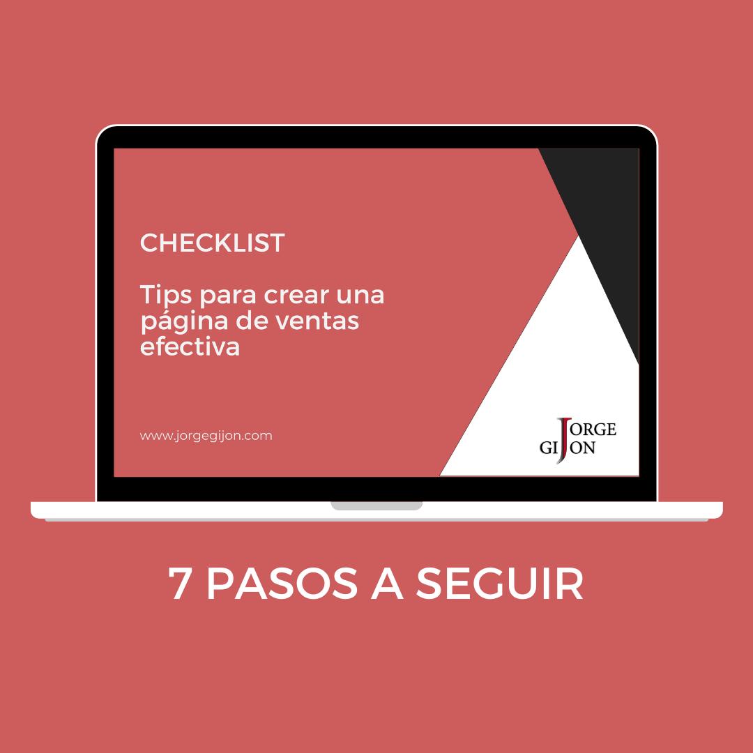 checklist pagina ventas lead magnet web